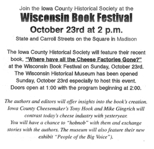 Oct 23, 2011 - Annoucemnt for The Wisconsin Book Festival