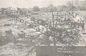 ·Post Card Ridgeway fire @ 1910 (Watermark)