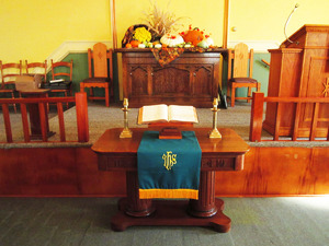 The Altar in the First German Presbyterian Church
