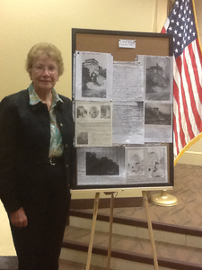 Caroline Meuer talked about the lime kiln on Highway 191